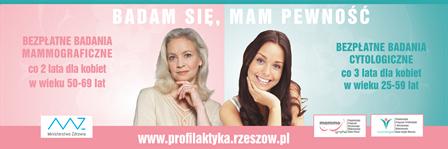 Zaproszenie na badanie cytologiczne dla kobiet wieku między 25 a59 rokiem życia